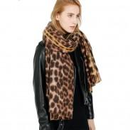 Nouveau châle léopard en cachemire garder au chaud écharpe femme léopard épaissir