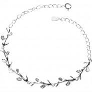 Mignonne Style de forêt Leaves Lover Gift Accessories Bracelet pour femmes Bracelet en argent