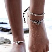 Lot d'accessoires pour pied de yoga vintage Rune double cheville d'été en étoile de mer