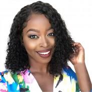 Nouvelle perruque noire africaine de cheveux bouclés moyens