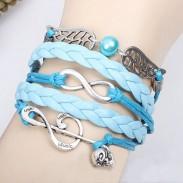 Note de musique douce ange Aile Infini Bracelet