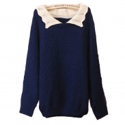 Cute Loose Hollow Lapel sweater