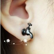 Unique 3D Boucles d'oreilles & Taps Goujon
