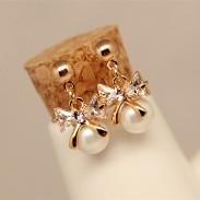 Boucles d'oreilles en perles de cristal avec noeud