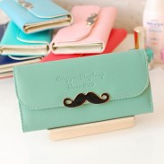 Simple Frais Moustache Embrayages & Portefeuille