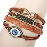 Bracelet de corde Best Friend Eye Infinity