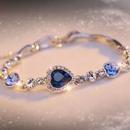 Bracelet en cristal avec coeur romantique