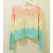 Sweet Gradient Color Knit Sweaters