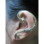 Cru Owl Animaux & Simple Boucles d'oreilles clip oreille