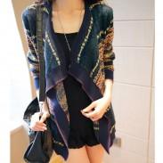Folk Irregular Cardigan Sweater Loosen Knitwear Coat