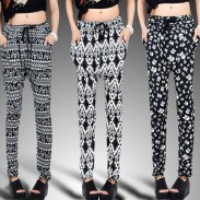Skull Geometric Harem Hip-hop Pants/Leggings