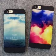 Fantastique Frais Ciel Mer coloré Des nuages Impression IPhone 5 / 5s / 6 / 6p Cas