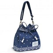 Frais Bow dentelle Polka Dot cordon Shoulder Bag Messenger Bag Sac à dos