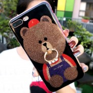 Brillant mignon ours brillant Iphone Animal Couverture Iphone 6 / 6s / 6 plus / 6s plus / 7/7 plus / 8/8 plus