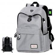 Sacs à dos de haute qualité de sac de camping de grande capacité de gris de toile d'Internet Interface