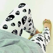 Unique Lip Skull Print Springy Pants/Leggings