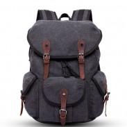 Sac à dos en toile épaisse à trois poches avec sac à dos multifonction