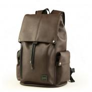 Le grand sac d'école de tirette en cuir d'unité centrale de loisirs des hommes avec le sac à dos de randonnée d'aptitude d'interface d'USB