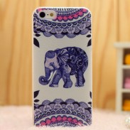 Cru Mignon l'éléphant Folk iPhone 5 / 5s / 6 Cas