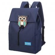 Hibou mignon imperméable à l'eau Collège sac à dos Loisirs solide voyage toile sacs à dos