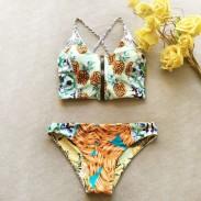Maillot de bain maillot de bain haut de maillot de bain sexy d'impression d'ananas bikini recto verso