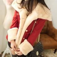 Sweet Thicken Cotton College Jacket Woolen Coat