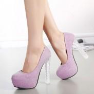 Sexy Bling Cristal Talons hauts Femmes Fête Chaussures
