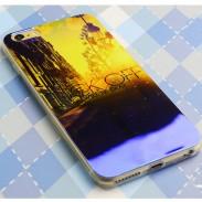 Brillant Ville Lever Du soleil Coucher de Soleil Silice Gel Mince Doux Cas Pour IPhone 5 / 5S / 6 / 6Plus