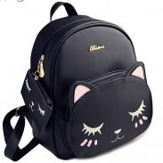 Sacs à dos d'école de chaton de dessin animé de loisirs de Kitty de chat mignon d'unité centrale de mode