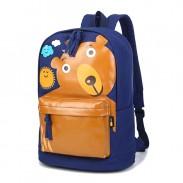 Drôle mignon sourire sac d'école Ours Nuages Motif Sun L'ordinateur Sac à dos