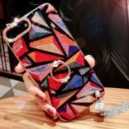 Glands colorés élégants bordés de diamants brillant étui iphone 7/7 plus / 8/8 plus
