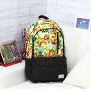 Loisir Floral Une fleur Modèle Mixte Couleur Verticale Fermeture éclair Toile Ecole Computer Backpack