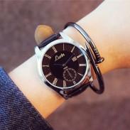 Mode simple grand cadran étudiant loisirs Couple ultra-mince montre à quartz étanche