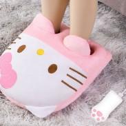 Mignon Oreiller USB Bureau Hiver Plus Chaud Singe Chat Kitty Cochon Dessin Animé Animal Main Pied Chauffe