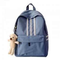 Frais Trois bandes Grands sacs de livre légers pour adolescentes sac à dos en toile