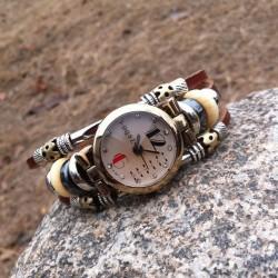 Bracelet en cuir Rétro perle d'origine Regardez