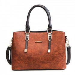 Fashion British Style Lady Handbag PU Shoulder Bag