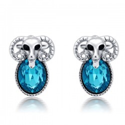 Mignon Le mouton Animal faux diamant Boucles d'oreilles / Boucles d'oreilles