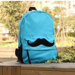 Mode Mignon Moustache Modèle Sacs à dos de toile