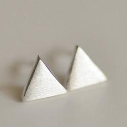Frais Sucré facile Triangulaire Argent Des boucles d'oreilles& Goujon