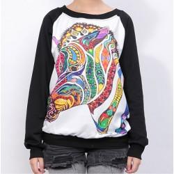 Lovely Cartoon Horse Symphony Sleeve Sweater