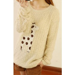 Sweet Style Cute Fawn Sleeve Sweater&Cardigan