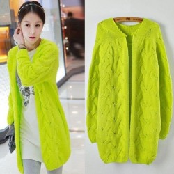 New Vintage Twist Fluorescent  Loose Sweater &Cardigan
