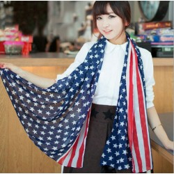 New Unique American Flag  Voile Infinity Scarf