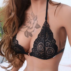 Sexy Camisoles Bras Lace Hollow Leaves Intimate Women Lingerie