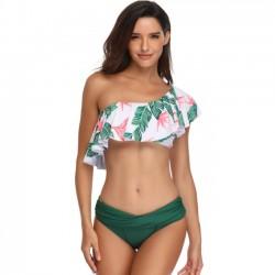 Maillot de bain estival sexy à bandoulière en bikini pour femme
