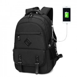 Leisure Sport USB Student Bag Travel Outdoor Computer Backpack Oxford Waterproof Backpack