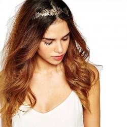 Mode Feuille Bandeau Feuilles Pince À Cheveux En Alliage Accessoires Cheveux