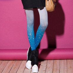 Personality Star Gradient Girls Stockings/Tights