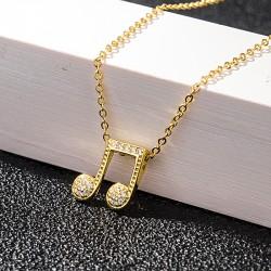 Symbole de la musique BFF meilleurs amis pour toujours collier cristal musique clé pendentif cadeau pour filles femmes musicien collier en argent
